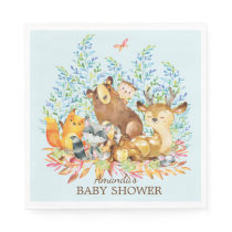 Woodland Animals Baby Shower Paper Napkins