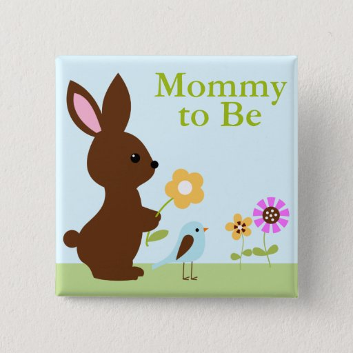 Woodland Animals Baby Shower Pinback Button
