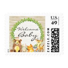 Woodland Animals Baby Shower Postage