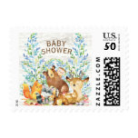 Woodland Animals Baby Shower Postage Stamp