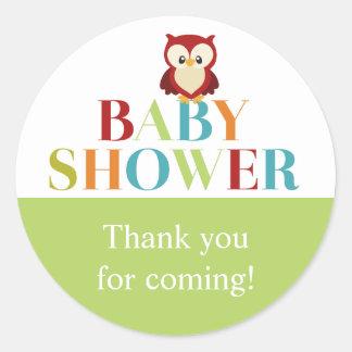 Woodland Animals Baby Shower Round Stickers