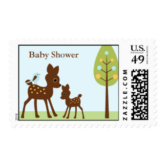 Woodland Animals Baby Shower Stamps