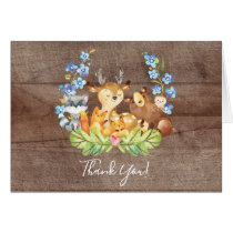 Woodland Animals Baby Shower Thank You Note