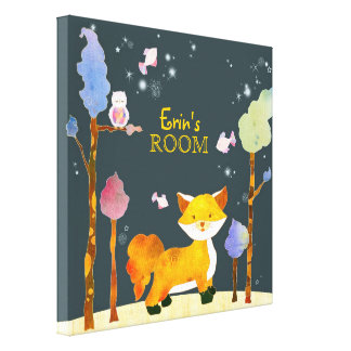 Woodland Animals Baby's Room Canvas Wall Art Canvas Print