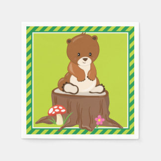 Woodland Animals | Bear Cub Paper Napkin