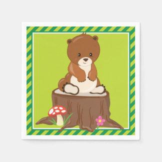 Woodland Animals | Bear Cub Paper Napkin