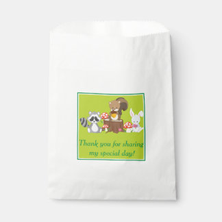 Woodland Animals Birthday | Personalized Favor Bag