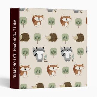 Woodland Animals Custom Avery Binder