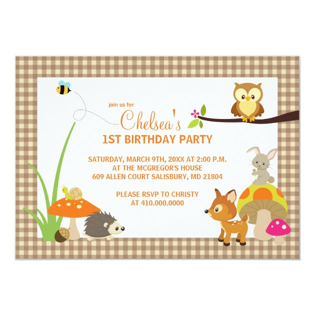 Safari Animal Birthday Party Invitations For Kids – Safari First Birthday Invitations