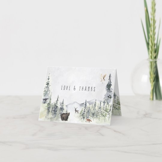Woodland Animals | Forest Baby Shower Thank You