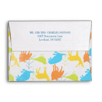 Woodland Animals Fox Baby Boy Shower Invitations Envelope
