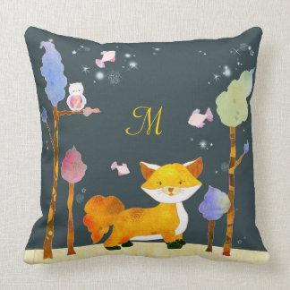 Woodland Animals Monogram Home Decoration Pillows