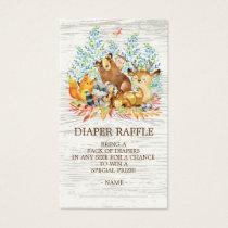 Woodland Animals Neutr Shower Diaper Raffle Ticket