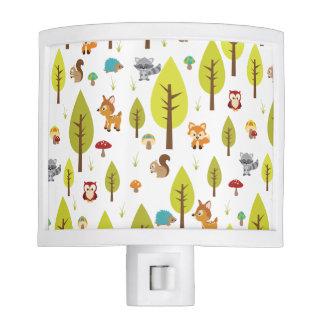 Woodland Animals Night Light