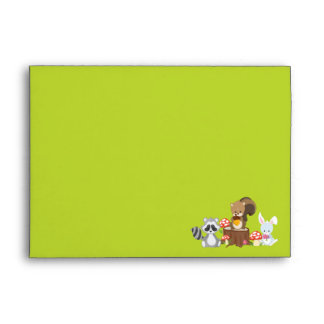 Woodland Animals Party Invitation Envelope