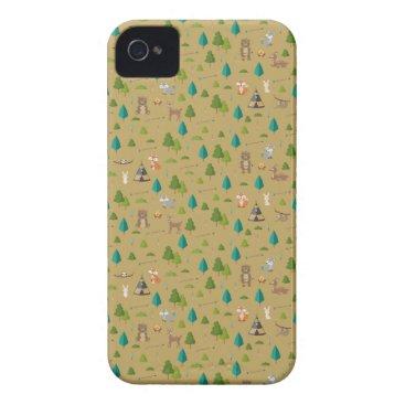 Woodland Animals Pattern Case-Mate iPhone 4 Case