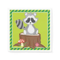 Woodland Animals | Raccoon Paper Napkin