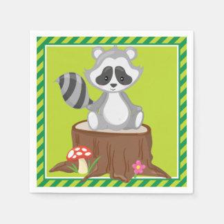 Woodland Animals   Raccoon Paper Napkin
