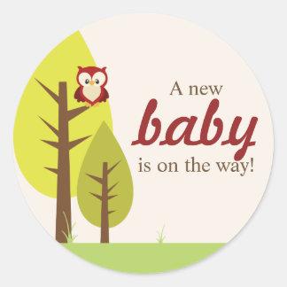 Woodland Animals Round Stickers