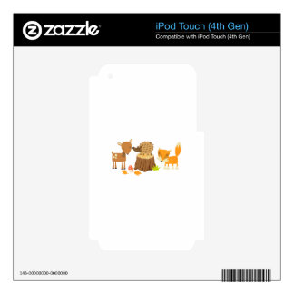 Woodland Animals iPod Touch 4G Decal