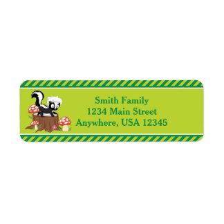 Woodland Animals Skunk | Personalized Label