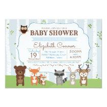 Woodland Animals Spring or Summer Baby Shower Card