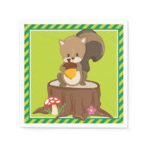 Woodland Animals | Squirrel Napkin