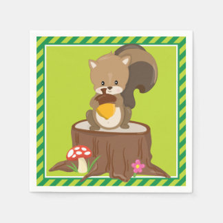Woodland Animals | Squirrel Napkin