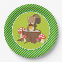 Woodland Animals | Squirrel Paper Plate