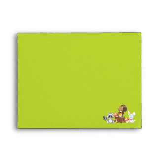 Woodland Animals Thank You Card Envelope