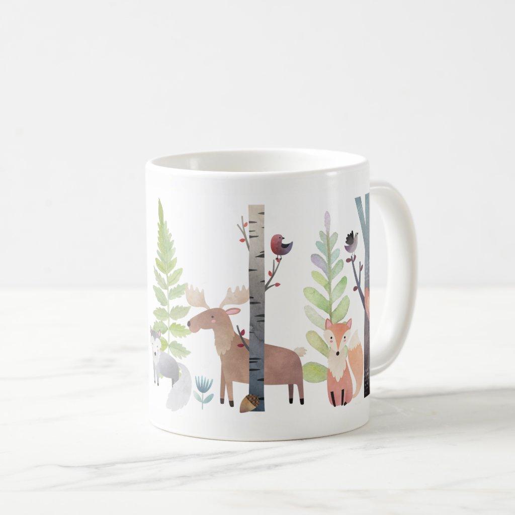 Woodland Animals Trees Birds Greenery Forest Mugs