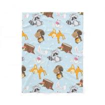 Woodland Animals unisex baby fleece blanket