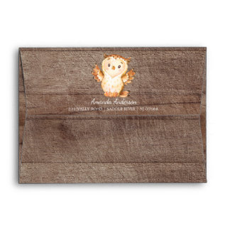 Woodland Animals Wood Neutral Invitation Envelope