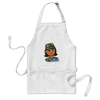 Woodland Army Camouflage Adult Apron