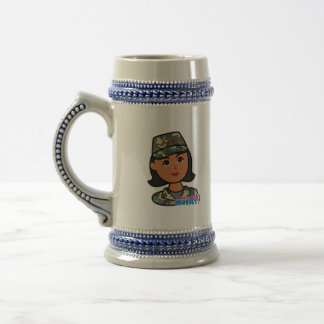 Woodland Army Camouflage Beer Stein
