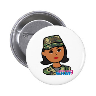 Woodland Army Camouflage Button