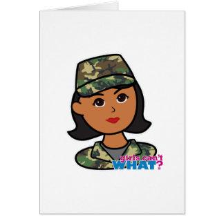 Woodland Army Camouflage Card