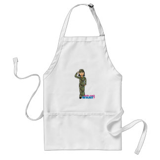 Woodland Army Camouflage Girl Adult Apron