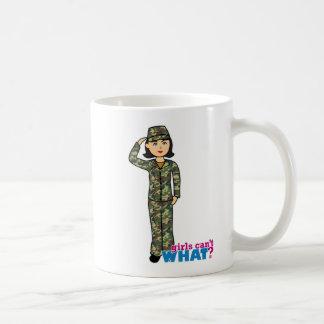 Woodland Army Camouflage Girl Classic White Coffee Mug