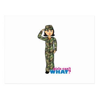 Woodland Army Camouflage Girl Postcard
