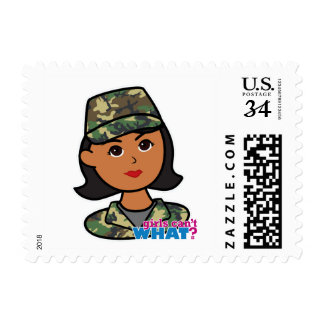 Woodland Army Camouflage Postage Stamp