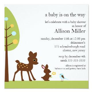 Woodland Baby Animails Baby Shower Invitation