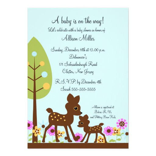 woodland baby deer boy baby shower invitation zazzle