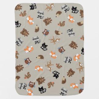 Woodland Baby Mash Up Blanket* Light Brown Swaddle Blanket