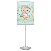 Woodland Baby Owl Design Table Lamp