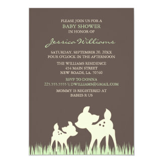 Woodland Baby Shower 5x7 Paper Invitation Card