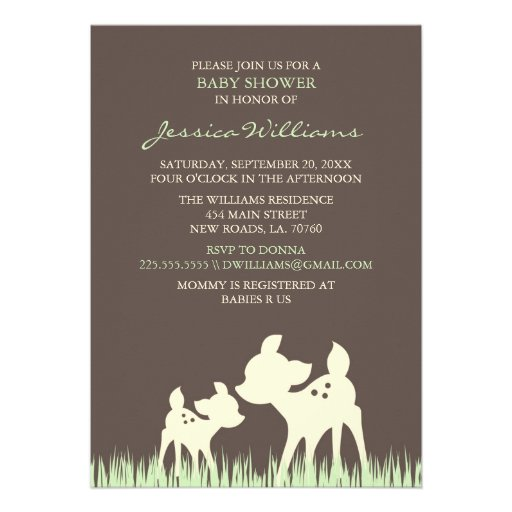Woodland Baby Shower Announcements