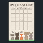 "Woodland Baby Shower Bingo Game Cards<br><div class=""desc"">Our woodland themed baby shower bingo is an easy and fun game to have at a baby shower. Hand the cards out to the guests and let them fill in the blanks with gifts they think the new mom may receive. As the gifts are opened the guests check off corresponding...</div>"
