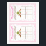 "Woodland Baby Shower Bingo Game pink, 2 a page<br><div class=""desc"">Have fun at the baby shower with this game!!  Visit my shop for matching items.  Please contact me when you have anty questions.</div>"