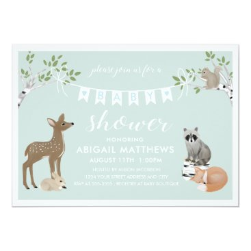 Toddler & Baby themed Woodland Baby Shower Card